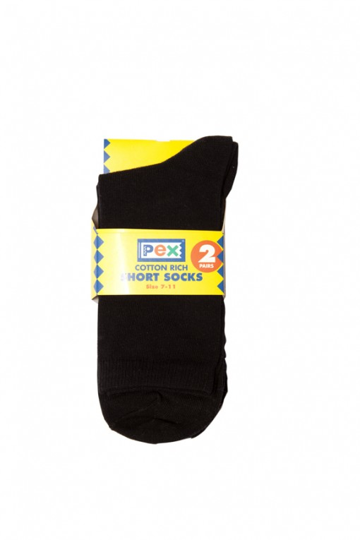 clova short black socks