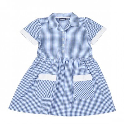 Blue summer school uniform dress