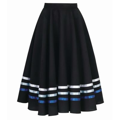 character dance skirt blue ribbons