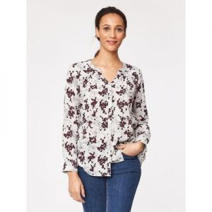 Chevly print organic cotton blouse