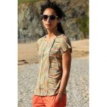 Nomads stripe button top a