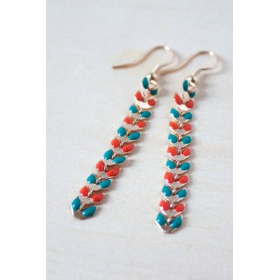 Nomads enamel chevron earrings