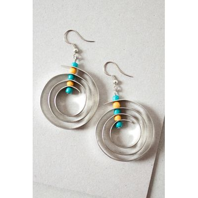 Nomads spiral earrings a