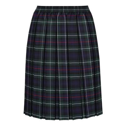 Tartan box pleat skirt