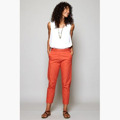 Nomads slim leg crop trousers Papaya
